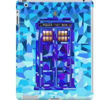 British blue phone booth cubic art iPad Case/Skin