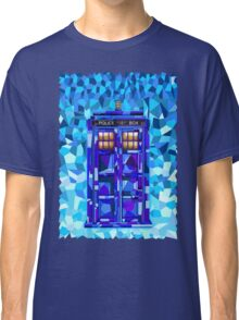 British blue phone booth cubic art Classic T-Shirt