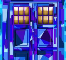 British blue phone booth cubic art Sticker