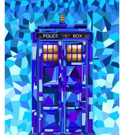 British blue phone booth cubic art Sticker