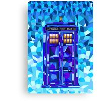British blue phone booth cubic art Canvas Print