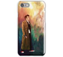 Time Traveller with abstract background art painting iPhone Case/Skin