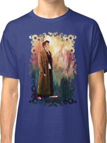 Time Traveller with abstract background art painting Classic T-Shirt