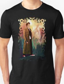 Time Traveller with abstract background art painting T-Shirt