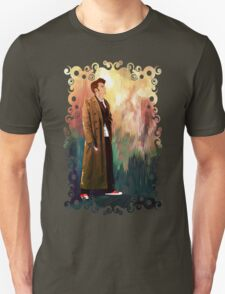 Time Traveller with abstract background art painting Unisex T-Shirt
