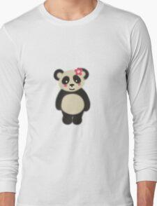 Happy Panda (Flower) Long Sleeve T-Shirt