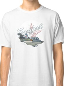 Cartoon Attack Warplane Classic T-Shirt