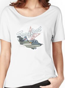 Cartoon Attack Warplane Women's Relaxed Fit T-Shirt