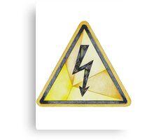 Electrical Hazard Here Canvas Print