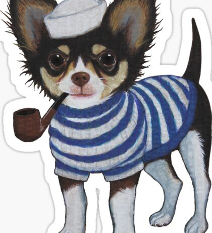 Sailor Chihuahua Sticker