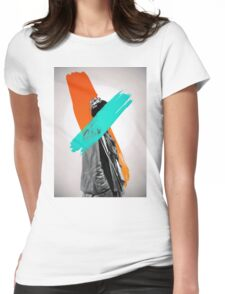 Paint Womens Fitted T-Shirt