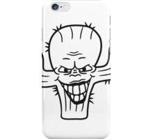 evil vile monster horror halloween demon cactus cartoon comic funny villain face iPhone Case/Skin