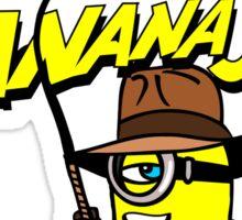 BANANA JONES AND THE GOLDEN BANANA Sticker