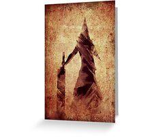 Silent Hill Pyramid Head Illustration Greeting Card