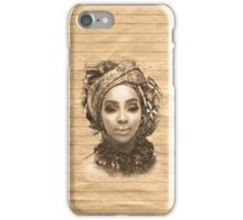 Old Paper Portrait iPhone Case/Skin
