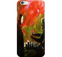 Playing chess with Death iPhone Case/Skin