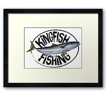 Kingfish Fishing Framed Print