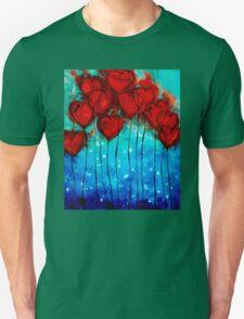 Hearts on Fire - Romantic Art By Sharon Cummings T-Shirt