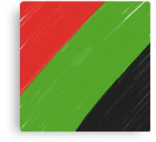 Red, Green and Black Canvas Print