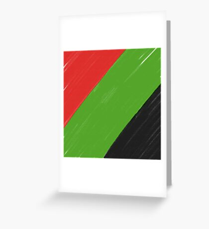 Red, Green and Black Greeting Card