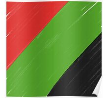 Red, Green and Black Poster