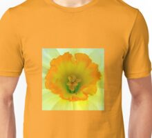 Daffodil close-up with visitor Unisex T-Shirt