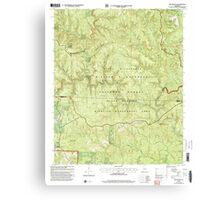 USGS TOPO Map Alabama AL Bee Branch 303199 2000 24000 Canvas Print