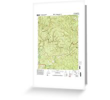 USGS TOPO Map Alabama AL Bee Branch 303199 2000 24000 Greeting Card