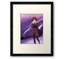 Nagisa Winter Coat Colour - Clannad Framed Print