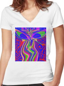 Transcendence Evolution Women's Fitted V-Neck T-Shirt