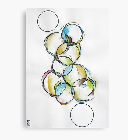 Circle Abstract - Counting To Ten Canvas Print
