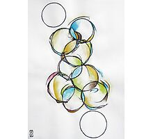 Circle Abstract - Counting To Ten Photographic Print
