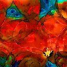 Garden Spirits - Vibrant Red Flowers By Sharon Cummings by Sharon Cummings