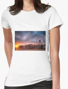 Blackpool Central Pier Womens Fitted T-Shirt