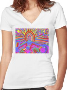 illumination Metamorphosis  Women's Fitted V-Neck T-Shirt