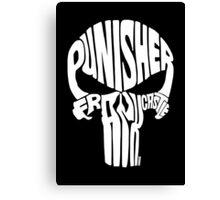 Punisher (White) Canvas Print