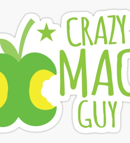 Crazy Mac guy Sticker