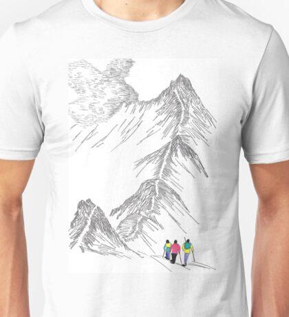Fellwakers on Striding Edge, English Lakes Unisex T-Shirt