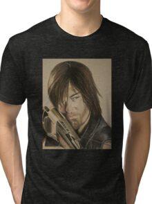 Daryl Dixon TWD in Derwent pencils Tri-blend T-Shirt