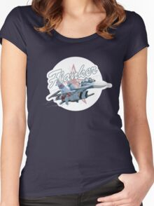 Cartoon Fighter Women's Fitted Scoop T-Shirt