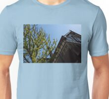 Amsterdam Spring - Characteristic Facade Plus Unusual Tree - Left Unisex T-Shirt