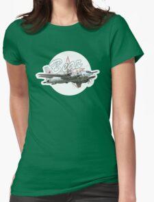 Cartoon Bomber Womens Fitted T-Shirt