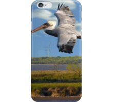 Pelican with Wind Turbines iPhone Case/Skin