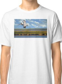 Pelican with Wind Turbines Classic T-Shirt