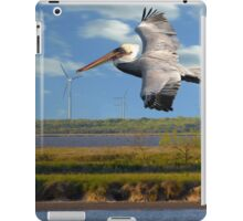 Pelican with Wind Turbines iPad Case/Skin