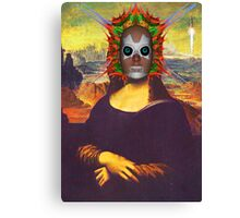 Cyborg Mona Lisa Canvas Print