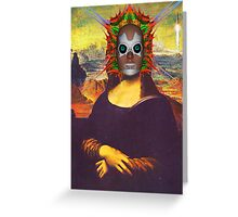 Cyborg Mona Lisa Greeting Card