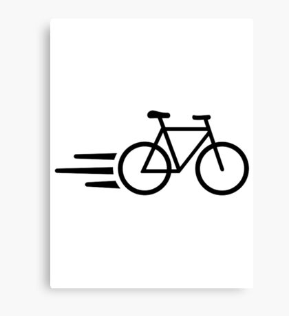 Fast bicycle Canvas Print