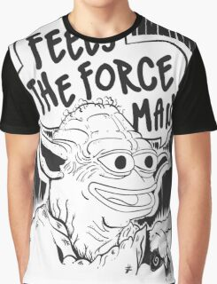 "Pepe The Frog ""Feels The Force Man"" Graphic T-Shirt"