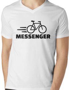 Bike messenger Mens V-Neck T-Shirt